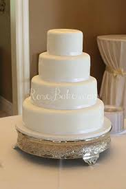 Stylish Decoration Plain Wedding Cakes First Class White Cake With Cascading Fresh Flowers Rose Bakes