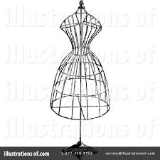 Fashion Clipart Vintage Mannequin 1