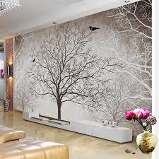 retro abstrakte baum zweige vogel große wandbilder benutzerdefinierte 3d foto tapete wohnzimmer sofa tv hintergrund dekor wandbild wand papier