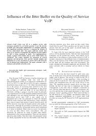Influence Of The Jitter Buffer On The Quality Of Service VoIP ... Getting Rid Of Voip Jitter How To Update Your Sound An Empirical Evaluation Playout Buffer Dimensioning In Performance Various Codecs Related Variation Location Based Wimax Network For Qos With Optimal Influence The Jitter Buffer On Quality Service Netbeez Test Tutorial Youtube Scte New Jersey Chapter 91307 Ppt Download Qos Requirements And Service Level Agreements Application Sla Project Presentation Analyzing Factors That Affect Call Use Cases Cyberpro By Nextcomputing