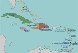 Map Of Caribbean With Countries Labeled