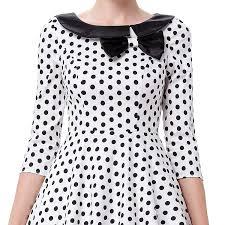 ellie u0027 white and black polka dot dress 1950sglam