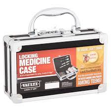 Locking Medicine Cabinet Walmart by Vaultz Locking Medicine Case Walmart Com