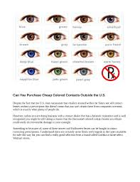 Cheap Prescription Colored Contacts Halloween by Are Cheap Colored Contacts Dangerous