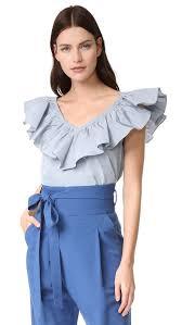 rebecca taylor ruffle blouse shopbop