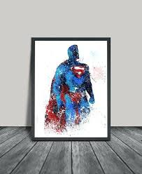 Superman Home Decor Wall Art Designs Cool Posters Paintings For Your Living Superhero Design Abstract Watercolor Decorations Coloring Drawing Artistic Chea