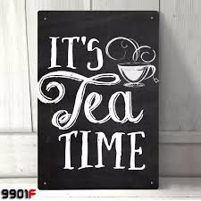 its tea time metal tin sign wall décor deco decoration wall poster ideal gifts 20x30cm 40x30cm