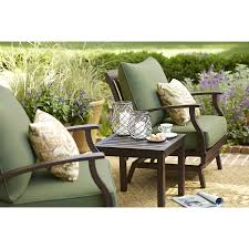Allen And Roth Deep Seat Patio Cushions by Netle Brown Steel Patio Rocking Chair Allen Roth Patio Furniture