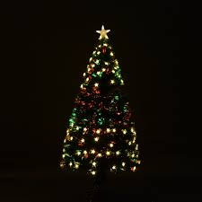 8ft Christmas Tree by Aosom Homcom 7 5 U0027 Artificial Rotating Pre Lit Multicolor Star