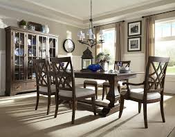 Incredible Formal Dining Room Furniture With Light Fixture And Window Curtain