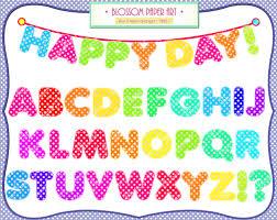 Alphabet Clipart Digital Letters Printables Banners