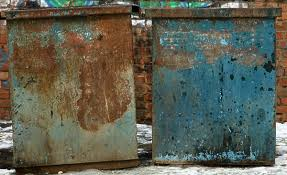 Box Crate Metal Dumpster Container Garbage