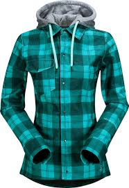 on sale volcom circle flannel jacket womens up to 45 off