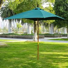 100 Wooden Parasol Outsunny 3m Umbrella Canopy Black Or Green Home Done