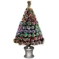3 Ft Fiber Optic Evergreen Flocked Artificial Christmas Tree