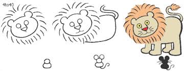 How To Draw Lion And Mouse