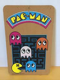 Vintage PAC MAN Cork Bulletin Board 1980 Video Game Arcade