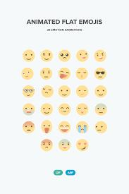 Free Flat Emojis Animated Templates Im AEP GIF
