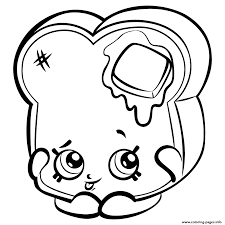 Toastie Bread To Print Shopkins Season 3 Coloring Pages Printable