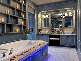 French Country Bathroom Vanity Mirrors In A Shabby Chic With Double Sink And Bathtub