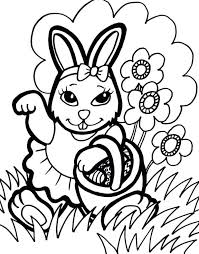 Coloring Pages Easter Color Pages Free Easter Bunny Colouring