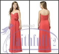 2013 newest junior bridesmaid dresses coral sweetheart pleated