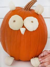 Owl Pumpkin Carving Templates Easy by Cute Owl Pumpkin Hgtv