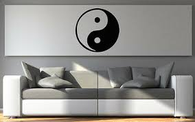 wandsticker ying und yang feng shui wandtattoo aufkleber