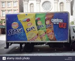 100 Snack Truck A Delivery Truck Advertises Lays Stax On The Go Snack Food On