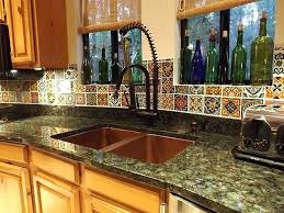 Mexican Kitchen Decor With Wine Bottle Decorating Ideas