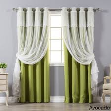 Brylane Home Sheer Curtains by Sheer Curtains With Attached Valance Curtains U0026 Drapes Compare