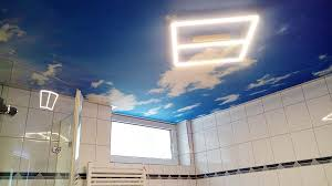 fotodecke mit wolkenhimmel im bad plameco hartenstein
