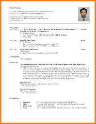 Resume For Science Graduates Simple Sample Fresh Graduate Intended