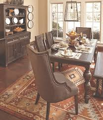 Plank Topped Kitchen Table And Dining Room Chairs With Bench Paired Buffet Hutch
