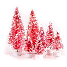 Darice Miniature Bottle Brush Sisal Trees Variety Pack
