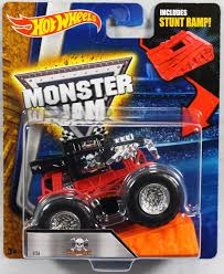 100 Team Hot Wheels Monster Truck Jam 2016 164 Scale With Stunt Ramp Bone Shaker