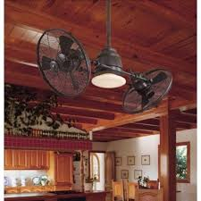 A Dual Head Oil Rubbed Bronze Ceiling Fan From Lamps Plus