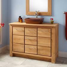 Distressed Bathroom Vanity Ideas by Bathroom Narrow Depth Wood Bathroom Vanity With Plenty Drawers