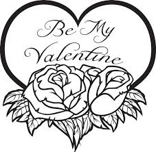 Printable Heart Coloring Page For Valentines Day That Says Be My Valentine