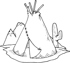 Native American Coloring Pages Teepee