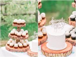 Rustic Cake Cupcake Display Scott Yasmins Mountain Wedding At Leavenworth River Lodge
