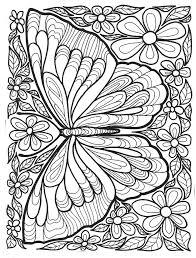Adult Coloring Butterflies