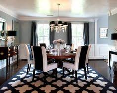 Use In Dining Room And Paint The Rug With This Stencil Design Black White