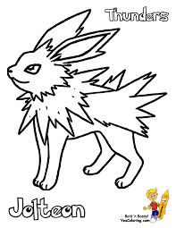 Pokemon Jolteon Printouts For Kids At YesColoring