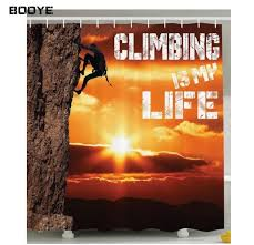 booye mountain decor scenic climbing is my inspirational quotes success trekking cing cer gifts for climbers home bathroom decorations