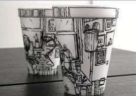 facts around us Sharpie Art on Styrofoam Cups