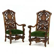 Amazing Pair Of Spanish Baroque Style Carved Walnut Hall ... Victorian Arts And Crafts Solid Oak Antique Glastonbury Chair Original Primitive Press Back Rocking 1890 How To Appraise Chairs Our Pastimes Bargain Johns Antiques And Mission Identifying Ski Country Home Replace A Leather Seat In An Everyday Wooden High Chair From 1900s Converts Into Rocking Lborough Leicestershire Gumtree Sold Style Refinished Maple American Style Childs Antiquer Rocker Reupholstery Vintage