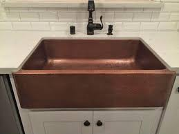 farmhouse hammered copper apron sink only 479 00 at home depot