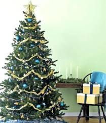Best Christmas Tree Decorations Tree Decorations Blue And Gold