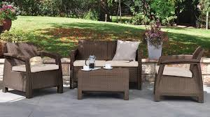 Patio Bistro 240 Assembly Instructions by Corfu Patio Lounge Set With Cushions Keter Target
